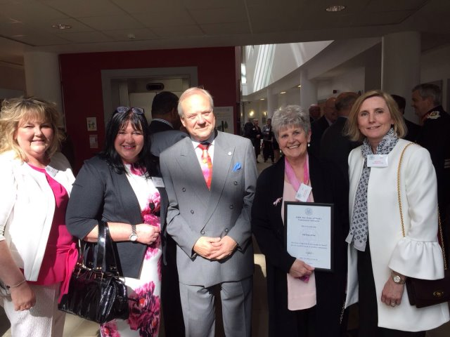 Pink Events team with Kevin Sharp, Deputy Lord Lieutenant of West Yorkshire